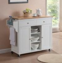 Meryland White Modern Kitchen Island Cart | Affordable ...