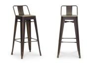 Baxton Studio French Industrial Modern Bar Stool in ...