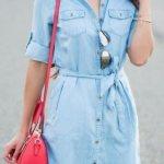Açık Renk Kot Elbise Modelleri