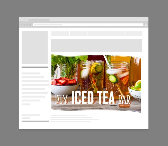DIY Iced Tea Bar Web Retargetting Ads for Numi Organic Tea by Bayard Heimer