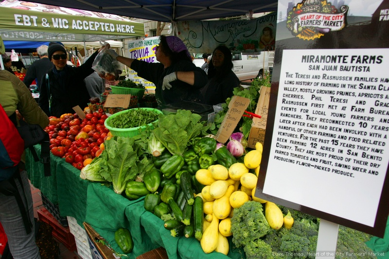 Marimonte Farms is just one of many stands a Heart of the City Farmer's Market.