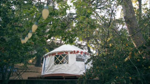 Embrace the Great Bay Area Outdoors From Under these Glamped-Out Yurts