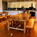 Beautiful reclaimed wood dining tables and benches bay area custom