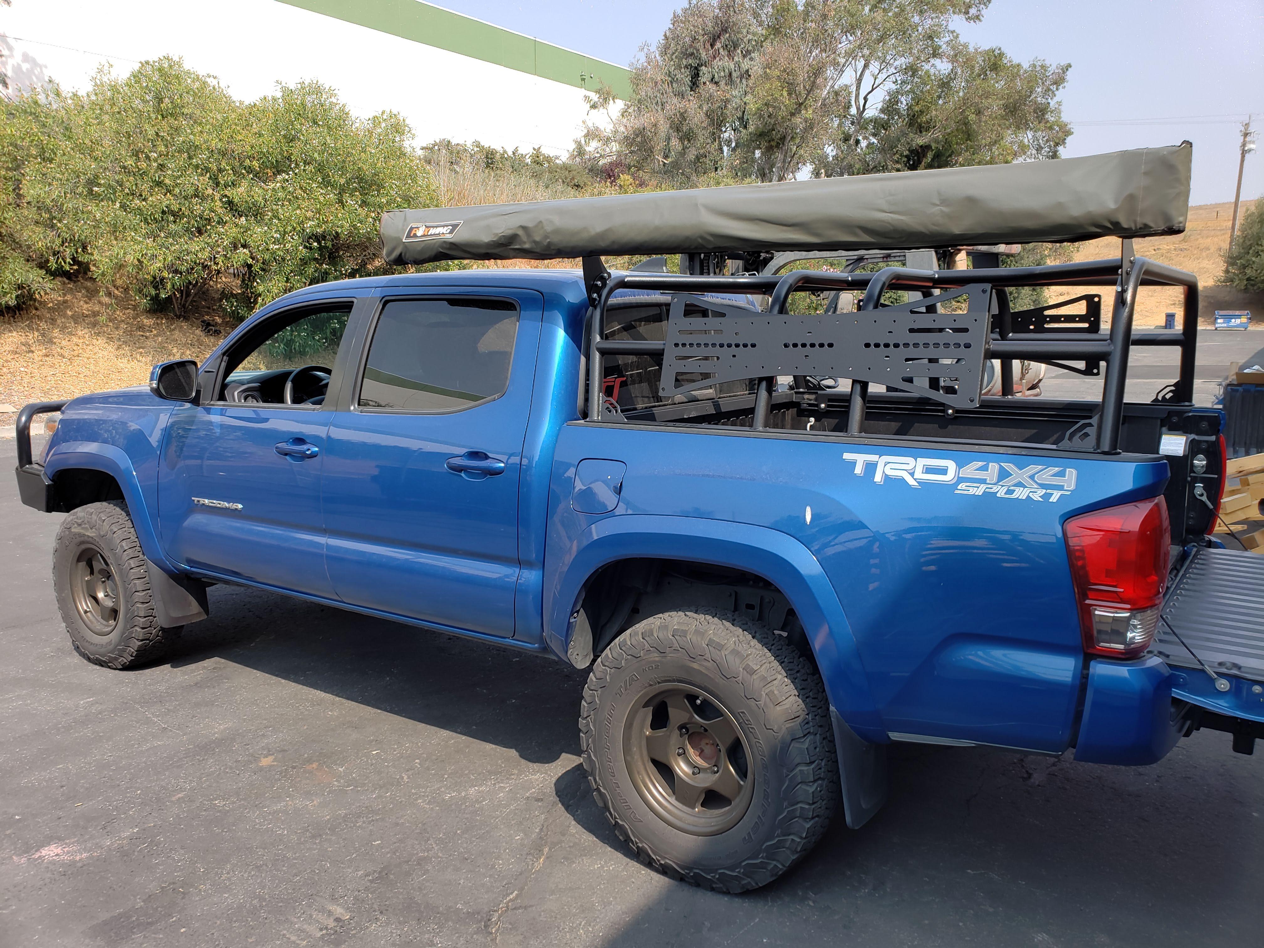 2016 plus toyota tacoma bed rack