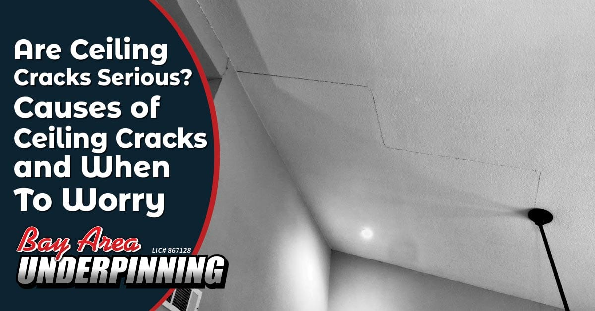 are ceiling cracks serious