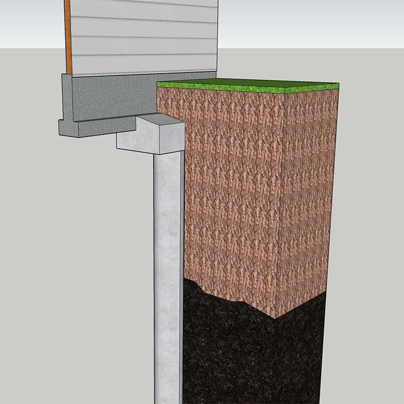 foundation replacement alternative - drilled concrete piers