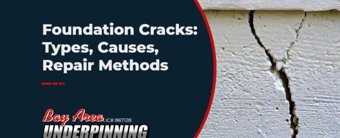 foundation cracks types causes repair methods
