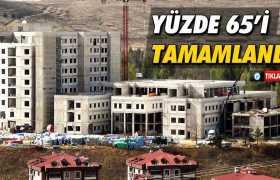 Bayburt'ta 200 Yataklı Hastanenin Yüzde 65'i Tamamlandı