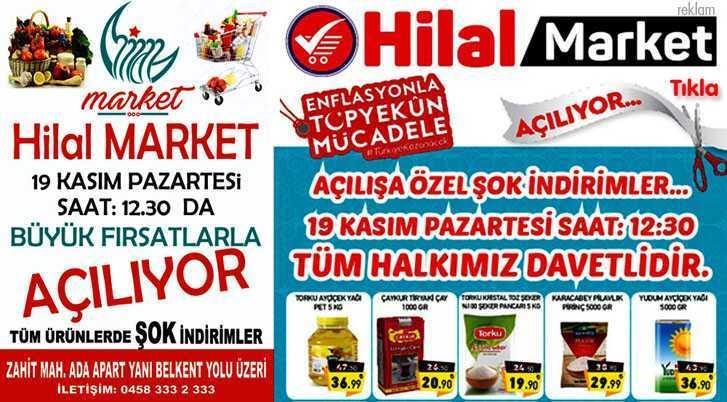 Hilal Market'ten Açılışa Özel Şok İndirimler