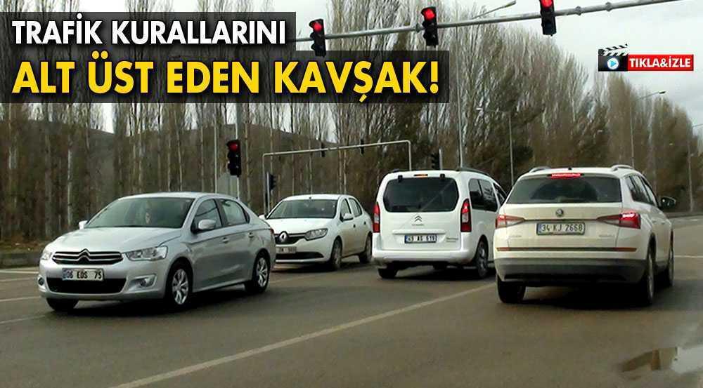 Bayburt'ta Trafik Kurallarını Alt Üst Eden Kavşak!