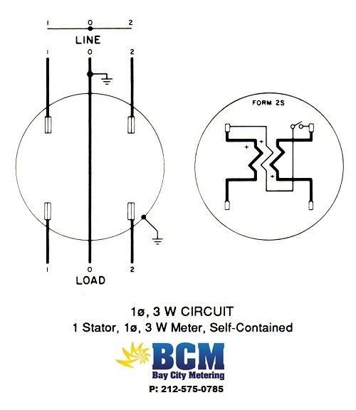 digital electric meter wiring diagram reversing single phase motor diagrams - bay city metering nyc