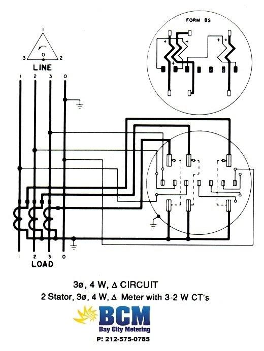 watt hour meter wiring diagram leviton 3 way switch with pilot light diagrams - bay city metering nyc