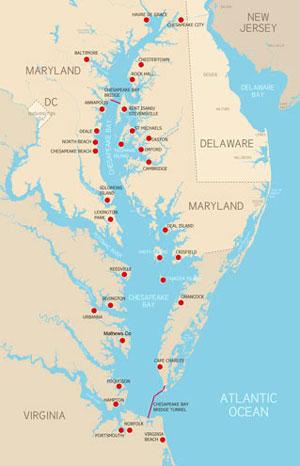 Chesapeake Bay Maps and Charts BayDreamingcom
