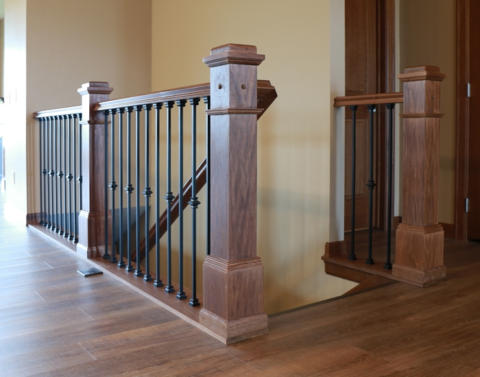 Stair Systems Bayer Built Woodworks | Handrails For Stairs Interior | Staircase Handrail | Rectangular Tube | Residential | Barnwood Rustic | Industrial