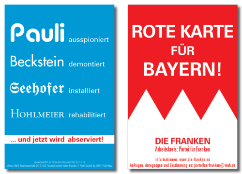 DIE FRANKEN - Rote Karte für Bayern