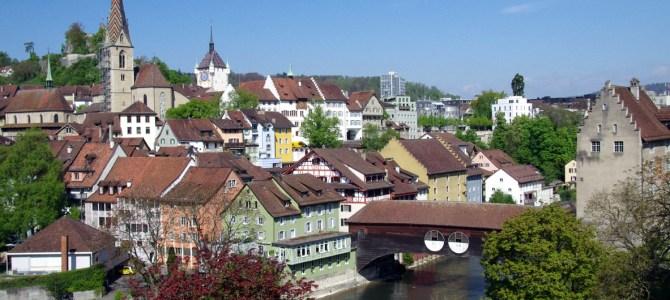In der Schweiz unterwegs – Spaziergang durch Baden