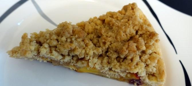 Apfel-Pfirsich Streuselkuchen