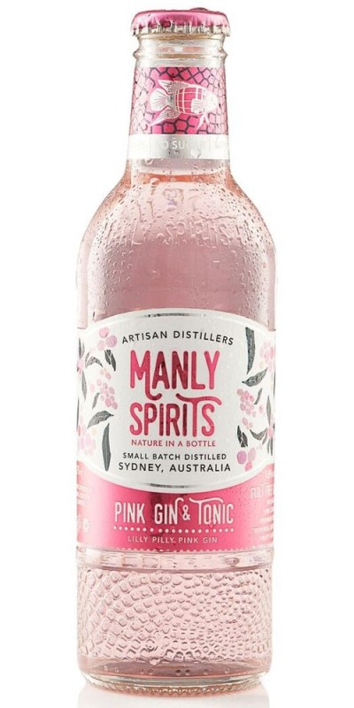 Manly Spirits Lilly Pilly Pink Gin and Tonic