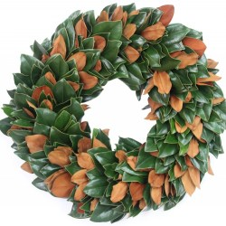 magnolia & little gem wreath