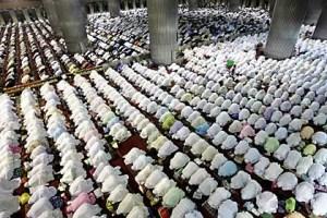 In Reih und Glied, aber in die falsche Richtung? Muslimgebet in einer Moschee in Jarkata© Bagus Indahono/DPA Foto-Quelle: stern.de