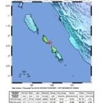 Nachbeben Stärke 5.8 in der Region Mentawai