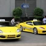 Die neuen Porsche und Ferrari Taxis von Jakarta Fotoquelle: Jakarta Post