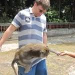 Da hing der Affee an der Hose ;-)