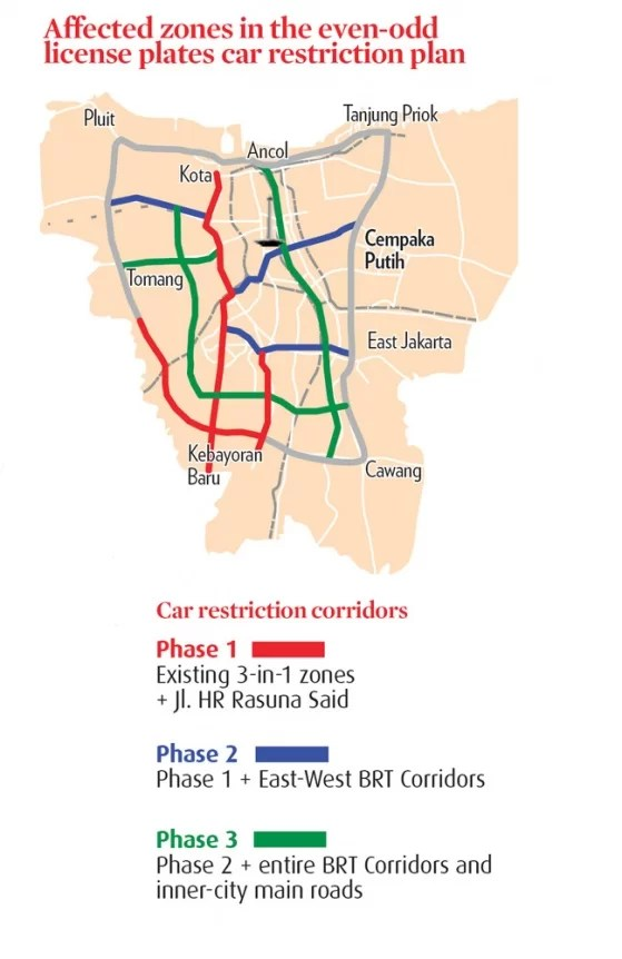 Plan der ab März 2013 gelten soll Grafik: kompas.com
