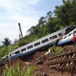 Schweres Zugunglück in Indonesien