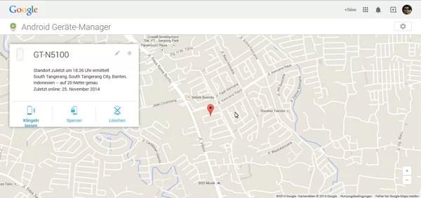 Anzeige des Standortes meines Handys über Google