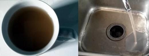 Schmutzwasser aus der Leitung
