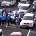 Gewaltsame Taxi Proteste am Dienstag in Jakarta