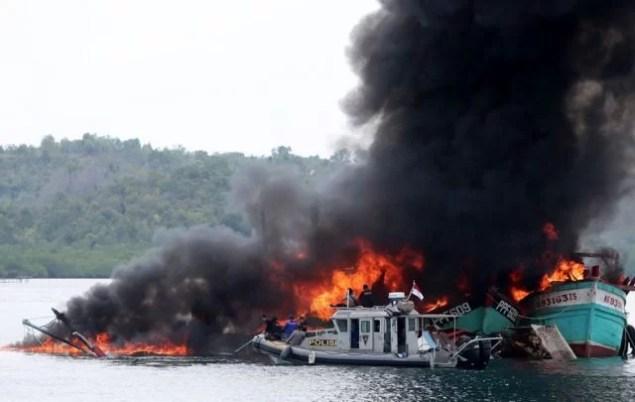 Zum 71. Jahrestag der Unabhängigkeit wurden 60 Fischerboote versenkt / Foto: kompas.com