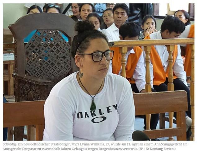 Neuseeländer wegen Drogen zu hohen Haftstrafen verurteilt / Foto: Sreenshot Jakarta Post