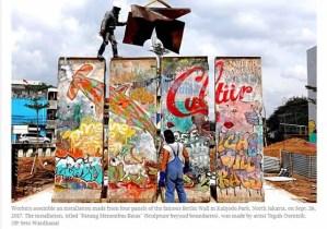 Berliner Mauer kommt nach Jakarta / Screenshot: Jakarta Post