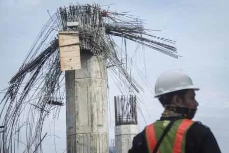 Baustopp für Prestigeprojekte in Indonesien - An diesem Träger ereignete sich der Unfall. / Screenshot: Jakarta Post