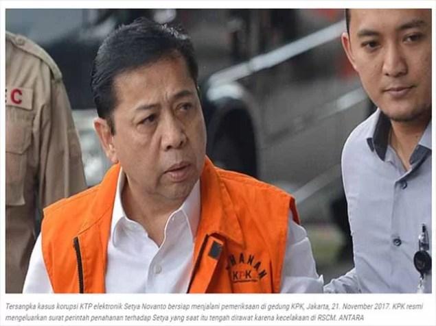 Ex-Parlamentspräsident wegen Korruption verurteilt Screenshot: tempo.co