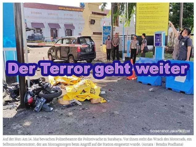 Der Terror geht weiter / Screenshot: Jakarta Post