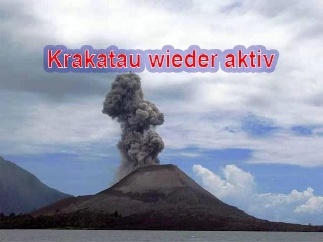 Vulkan Krakatau höchste Alarmstufe / Foto: Wikipedia