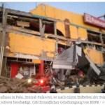 Tsunami nach schweren Erdbeben