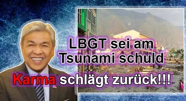 Malaysischer Politiker sagt, LBGT sei schuld an Tsunamikatastrophe