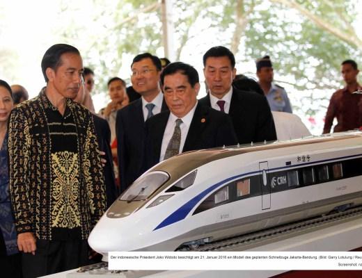 Indonesien plant Hochgeschwindigkeitszug / Screenshot: nzz.ch