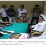 Mann der drohte Präsident Joko Widodo zu enthaupten, heiratet im Gefängnis