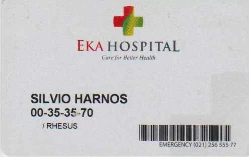 EKA Hospital Registrierungskarte