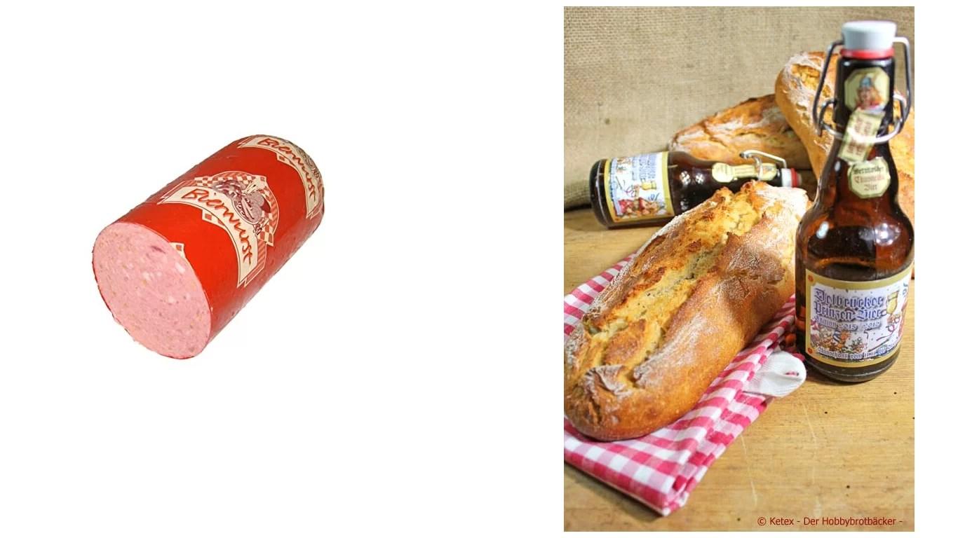 Bierwurst und Bierbrot