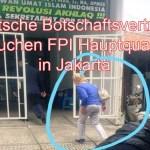 Angehörige der deutschen Botschaft in Jakarta besuchen die unter Terrorverdacht stehende Front der Islam-Verteidiger (FPI) in Jakarta