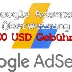 100 USD Google Adsense Überweisung 20,00 USD Gebühren