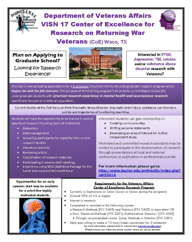Information Flier BU CERP Prehealth Programs Baylor University
