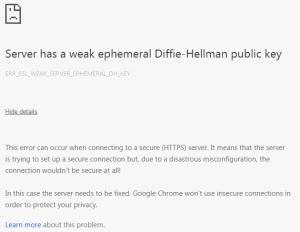 Diffie-Hellman error