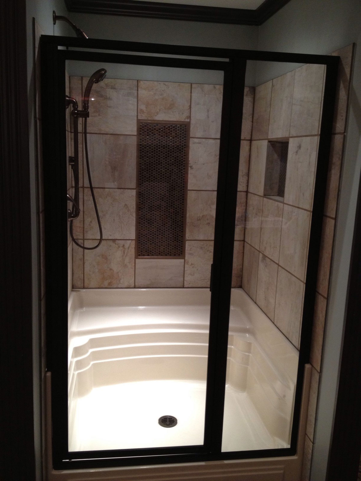 5048 Maggie 48 x 48 One Seat Shower Pan  Baymont Bathware